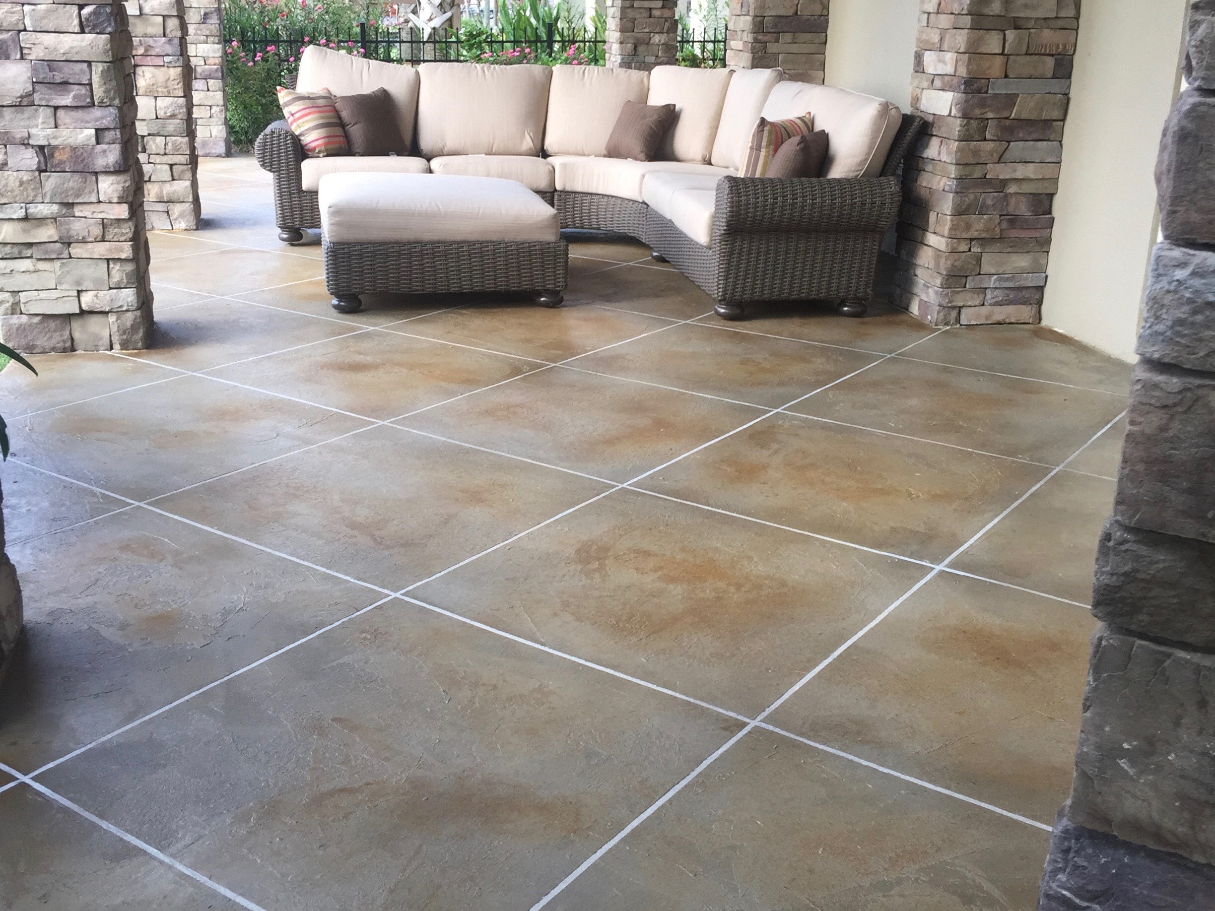 Outdoor patio of residential home