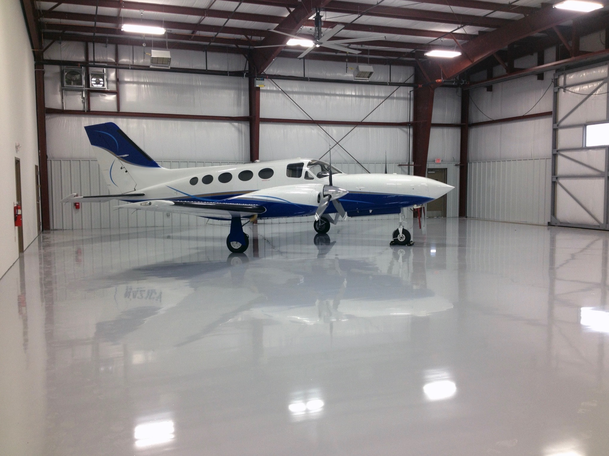 Epoxy Coating on floor of Aviation Hangar